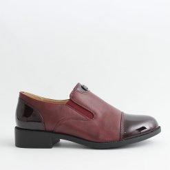 Дамски обувки равни в бордо