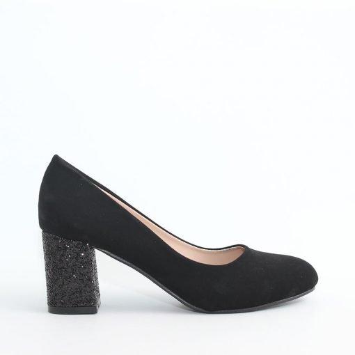 Дамски обувки с ток ламе