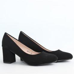 Дамски обувки с ток велур