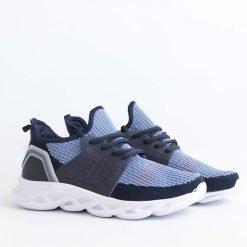 Юношески маратонки текстилни тъмно сини