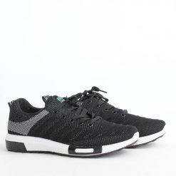 Черни мъжки маратонки текстил