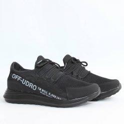 Черни мъжки маратонки с надпис
