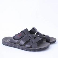 Черни мъжки чехли с ленти