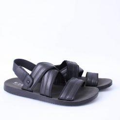 Черни мъжки сандали с ленти