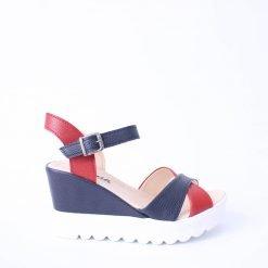 Дамски сандали платформа цветни