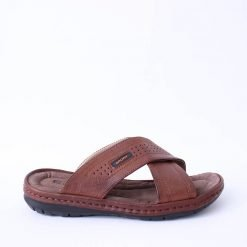 Кафяви мъжки чехли