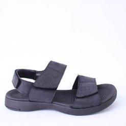 Мъжки черни сандали естествена кожа
