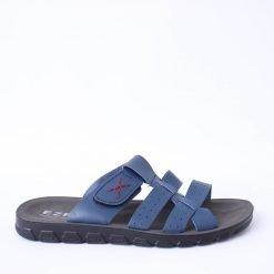 Сини мъжки чехли с ленти