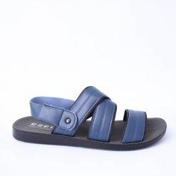 Сини мъжки сандали с ленти