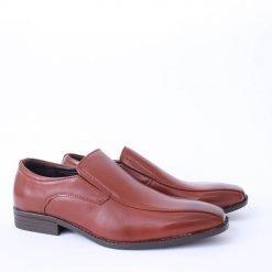 Официални кафяви мъжки обувки без връзки