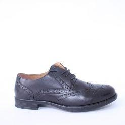 Официални мъжки черни обувки с връзки