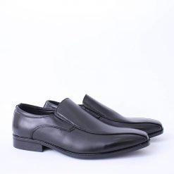 Официални мъжки черни обувки без връзки