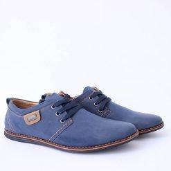 Сини мъжки обувки ежедневни с връзки