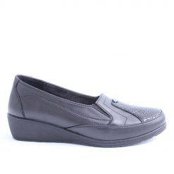 Черни дамски обувки ниска платформа