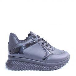 Дамски обувки равна платформа черни
