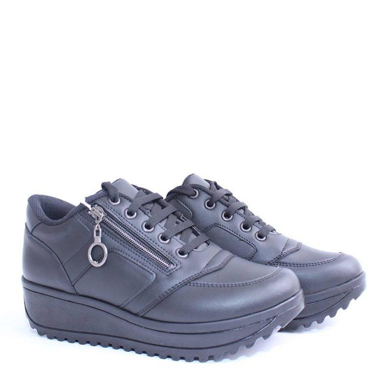 damski sportni obuvki na platforma cherni 800x800 - Обувки Онлайн VenDemi