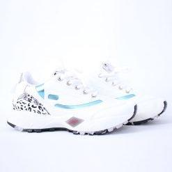 Дамски бели маратонки с връзки