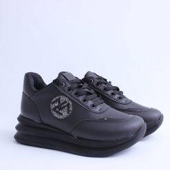 Дамски обувки черни на платформа