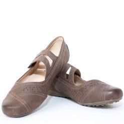 Дамски равни обувки кафяви