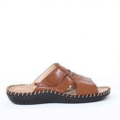 Мъжки чехли кафяви с лепенкa