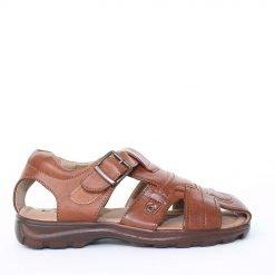 Мъжки сандали кафяви затворени