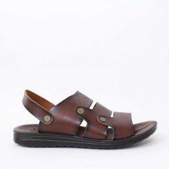 Мъжки кафяви сандали с ленти
