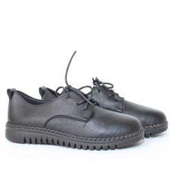 Дамски обувки равни затворени с връзки