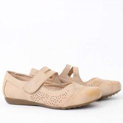 Дамски равни бежови обувки