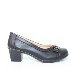 Дамски обувки отворени на среден ток