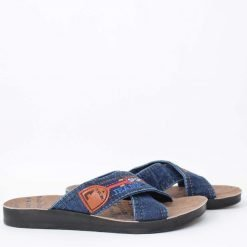 Дънкови мъжки чехли