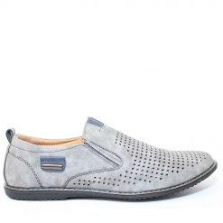 Мъжки обувки без връзки сиви