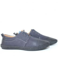 Мъжки обувки с връзки тъмно сини