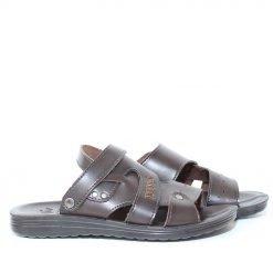 Мъжки сандали тъмно кафяви