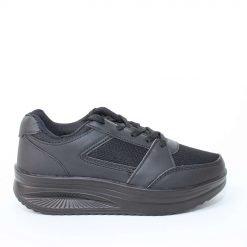 Дамски обувки черни с дебело ходило