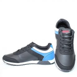 Юношески маратонки черни от еко кожа