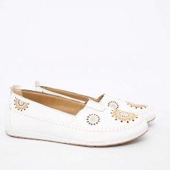 Дамски пролетни обувки бели