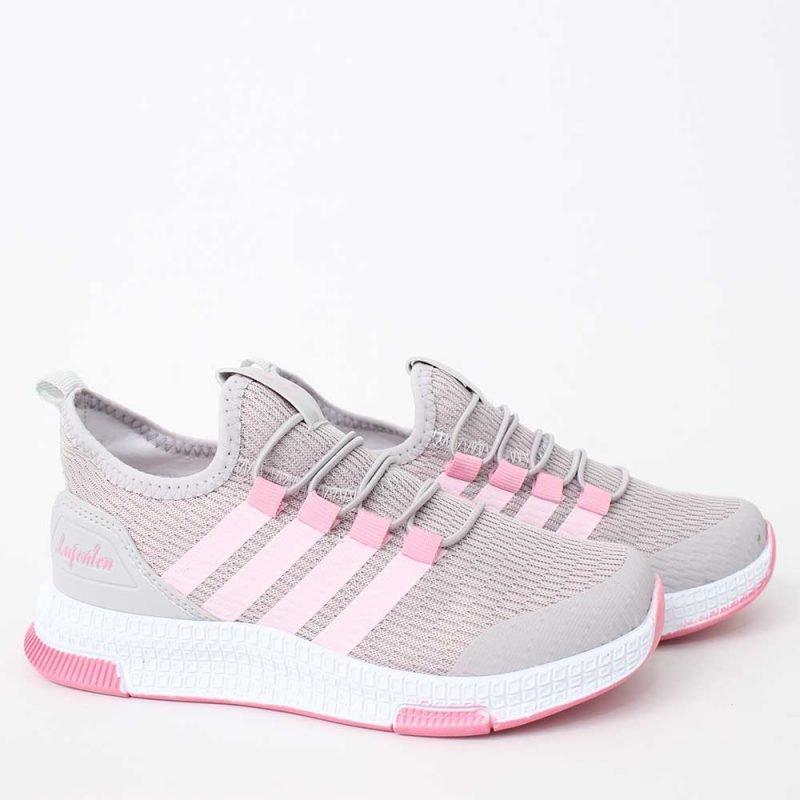 detski maratonki v sivo i rozovo 800x800 - Обувки Онлайн VenDemi