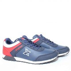 Юношески маратонки сини от еко кожа