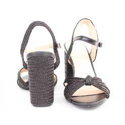 Дамски сандали на дебел ток