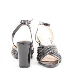 Черни дамски сандали висок ток