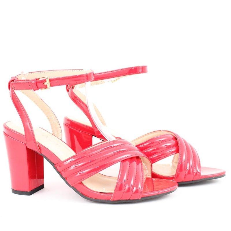 cherveni damski sandali visok tok 800x800 - Обувки Онлайн VenDemi