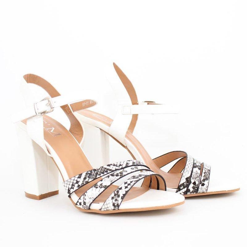 damski beli sandali s lenti 800x800 - Обувки Онлайн VenDemi