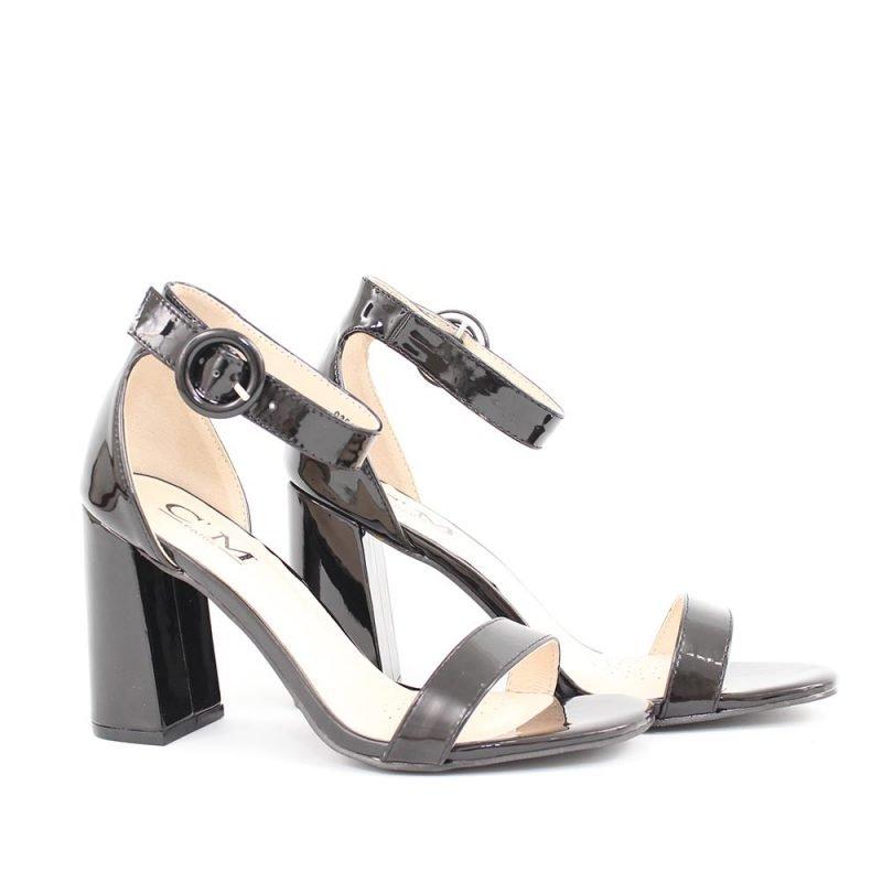 damski cherni lacheni sandali 800x800 - Обувки Онлайн VenDemi