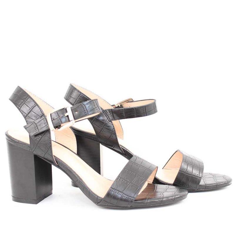 damski sandali cherni na shirok tok 800x800 - Обувки Онлайн VenDemi