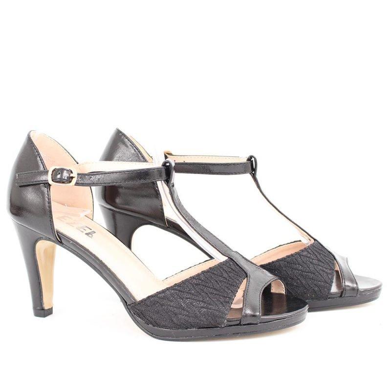 damski sandali cherni s dantela 800x800 - Обувки Онлайн VenDemi