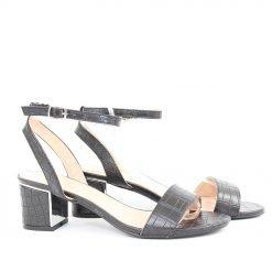 Дамски сандали ниски черни