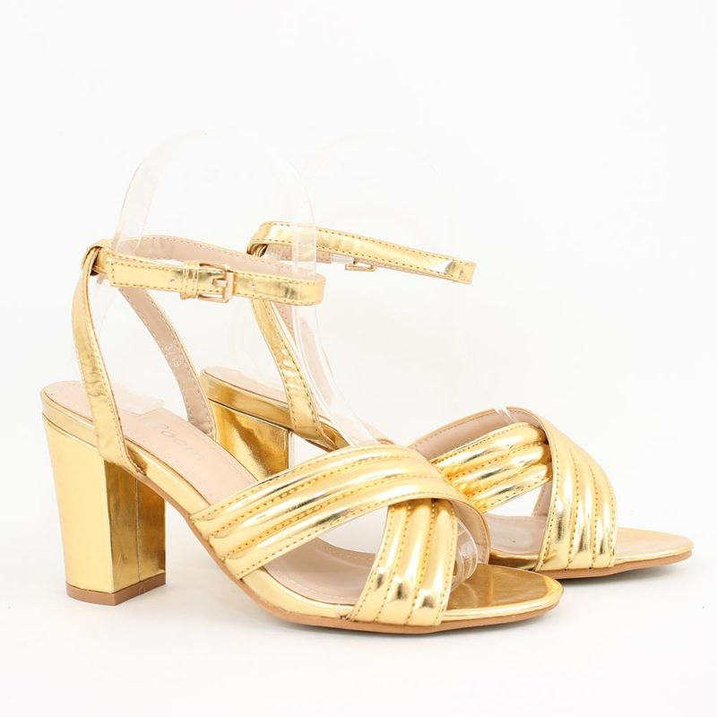 zlatisti damski sandali visok tok 800x800 - Обувки Онлайн VenDemi