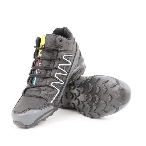 Мъжки маратонки високи черно сиви