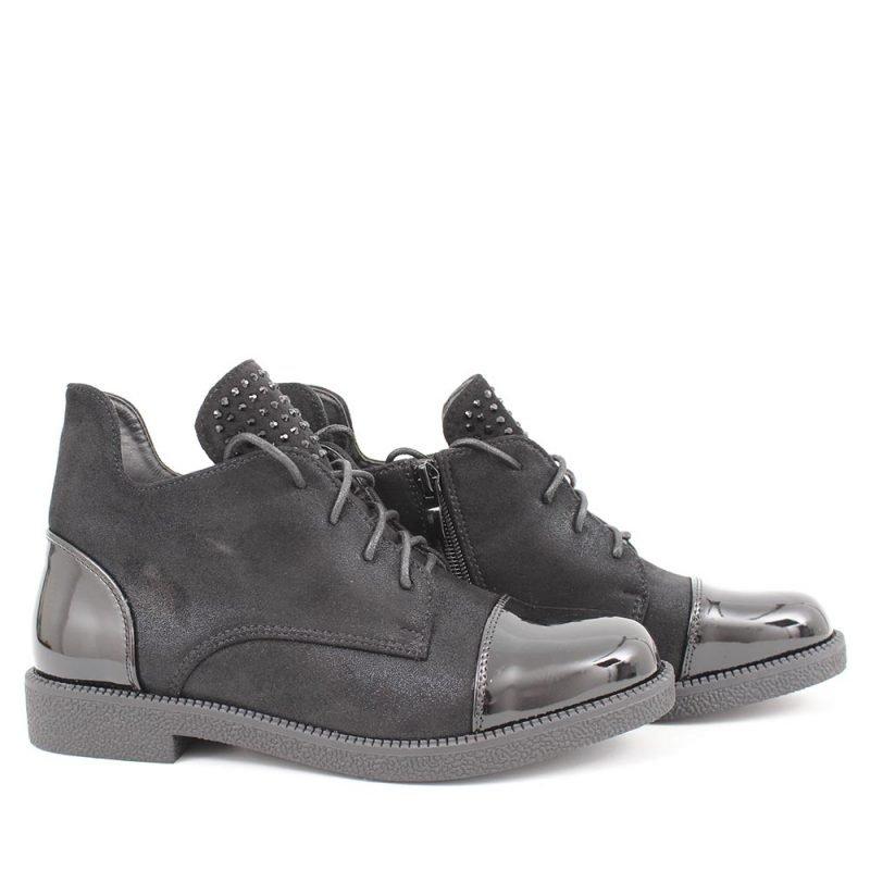 damski klark cheren velur i lak 800x800 - Обувки Онлайн VenDemi